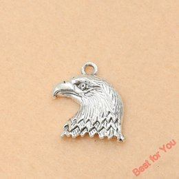 Wholesale 80pcs Antique Silver Tone Eagle Charms Fashion Pendants Jewelry DIY Jewelry Making Handmade x18mm jewelry making