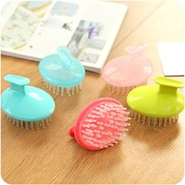 Wholesale Shampoo Massage Brush Combs Soft Washing Head Therapy Prevent Hair Loss DHL It can be mixed batch