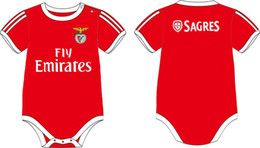 2016 baby clothes winter 100%cotton boy girl Baby onesie romper soccer babysuit Benfica bebe oneise clothing for 0-12M free shippment