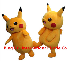 Wholesale 2016 Top Grade Deluxe Pikachu Mascot Costume Cartoon Character Costumes Mascot Costume Fancy Dress Party Suit