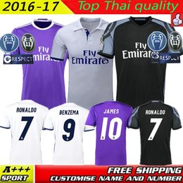 Wholesale Big size XL XL XL Real Madrid home away jerseys La Liga Real Madrid RONALDO BENZEMA JAMES BALE Spain shirts