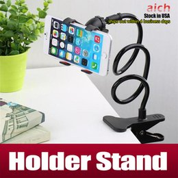 Wholesale 360 Rotating Flexible Long Arm cell phone holder stand lazy bed desktop tablet car selfie mount bracket iphone samsung s6 s7 edge