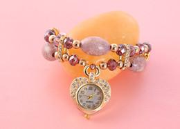 Regarder rose d'or à vendre-2016 robe des femmes bracelet de marque de luxe mode or cas cardiaque montres déco bijou coeur bracelet en chaîne d'acier pendentif poignet