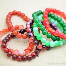 Wholesale Stretch Bracelet Connectors - Mixed color 8mm Turquoise Crystal Rhinestones Sideways love Connectors beads Stretch Bracelets crystal pearl resin bracelets