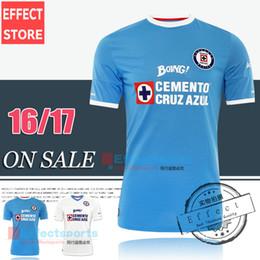 Wholesale 2016 Mexico s Club Cruz Azul home Blue away White Third Black Soccer Jerseys Blue cross GIMENEZ CROSAS ROJAS Football Shirts