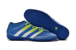 Wholesale Adidas Originals ACE PureControl INdoor Men Soccer Shoes Boots Slip On Cheap Original Performance Ace Cleats Football Sneakers