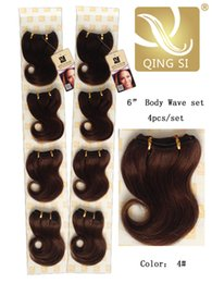 Wholesale Unprocessing Virgin Brazilian Peruvian Human Hair set Bady Wave quot set Four Colors Available Factory Supply Bottom Price