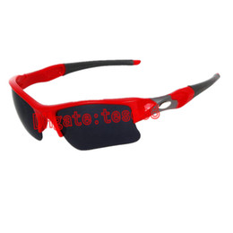Wholesale Sun Wind Glasses - New Arrival Half Frame Sunglasses Men Women Outdoor Sports Cycling Wind Goggle Designer Sun Glasses Resin Lenses 9 Colors Mixed Order Cheap