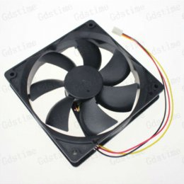 Wholesale 2pcs mm x120x25MM Blade pin V PC Computer Water Case Cpu DC Brushless Cooling Fan