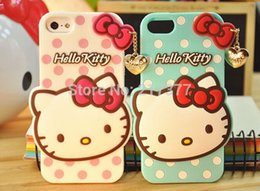 New Fashion Style Pendant Hello Kitty Cartoon Shell 4.7 Inch Silicon Back Cover Case For Apple iPhone 6 Free Shipping
