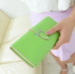 New Designer Brand Women's Purse Sale Soft Slim Leather Wallets Female Credit Card Holders Zipper Pocket Top Quality Clutch bags