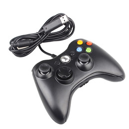 2017 pc joystick Negro controlador USB Gamepad con cable para Xbox 360 joystick controlador para Microsoft PC Windows 7 para XBOX 360 Game Controller presupuesto pc joystick