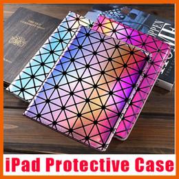Caso de protección láser casos de cuero de diamante cubierta plegable folio para el aire mini iPad 1 2 3 4 5 6 desde caja de la galaxia de la zarzamora china proveedores