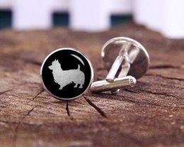 Wholesale Australian Terrier cufflinks pet dog cufflinks custom any silhouette cuff links personalized cufflinks Wedding Cufflinks Gifts for men