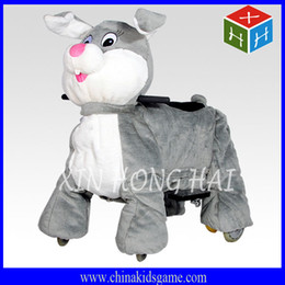 Wholesale 2016 Amusement game kiddie ride shopping mall animal ride plush motorized car ride on rabbit car coin operated zippy ride