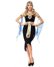 Wholesale 2016 New Arrival Halloween Arab Goddess Dress Game Uniforms Latin Egyptian Clothing Cosplay Party Dancer DS Nightclub Costume Stage Wear