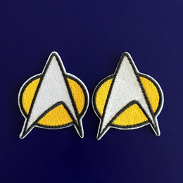 GP-59 vente chaude! Vente en gros 5 * 6cm STAR TREK patches Star Fleet Iron / Coudre Patch T-shirt TRANSFERT MOTIF APPLIQUE Punk Rock Badge à partir de transferts tshirt fabricateur