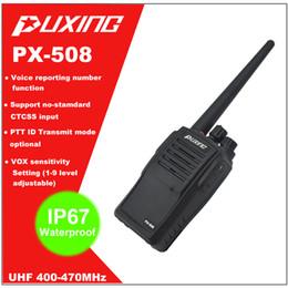 2017 deux radios bidirectionnelles vente Vente en gros à chaud IP67 étanche preuve Walkie Talkie Dust Radio Puxing PX-508 UHF 400-470MHz Deux voies Portable Radio FM Transceiver deux radios bidirectionnelles vente à vendre