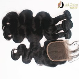 8A Cuticle 100% Peruvian Hair Weave Natural Black Body Wave 3bundles Mixed Hair With 1pc Lace Closure Unprocessed Human Hair Extension