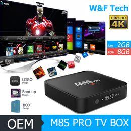 Wholesale M8S PRO GB GB Android TV Box S905 K KODI Loaded BT Better MXQ PRO M8S Android TV Box