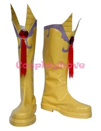 Wholesale Custom made yellow Germany Italy Shoes from Axis Powers Hetalia Cosplay