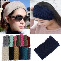 Wholesale Winter Warm Beauty Fashion Colors Flower Crochet Knit Knitted Headwrap Headband Ear Warmer Hair Muffs Band