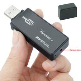 Wholesale HD USB Disk Spy Hidden Camera U9 U disk Flash Drive Video Recorder Motion Activated MINI DV