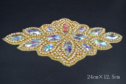 Free Shipping luxurious Fashion Handmade Rhinestone Crystal Material Applique Bride Wedding Dress With Belt Accessories