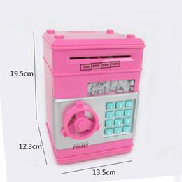 Wholesale Cartoon automatic roll money machine coin large ATM password piggy bank yanchaoji children creative toys gift
