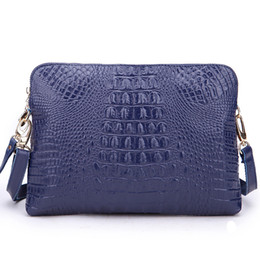 New Buff Leather Cross body Bags, Women Shoulder Bags Crocodile Print Messenger Bags W2168