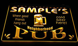 LS587-y Name Personalized Neighborhood Home Bar Pub Beer Neon Light Sign
