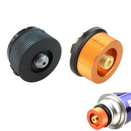 Wholesale Outdoor Camping Hiking Aluminum Stove Adapter Burner Conversion Split Type Gas Furnace Connector Cartridge Auto off Tank Adaptor