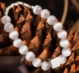 Wholesale DIY Time walk opal Sterling Silver Bracelet for energy chain bracelet and retailer