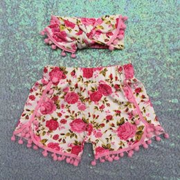 Vintage Baby Girls Short Outfit ,Pink Floral Pom Pom Girls Short Sets ,Baby Clothes ,Toddler Girls Outfit ,Floral Birthday set