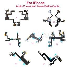 Wholesale Skylet For iPhone S C S Plus S SPlus Power Button And Volume Audio Control Sensor Flex Cable Replacement Part DHL Free