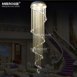 Spiral Long Crystal Ceiling Light Fixture Lustres de cristal crystal lighting Stair Lamp for ceiling Lamparas de Techo