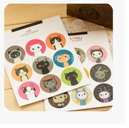 500sheets (4500pcs) Cat Rabbit Sealing Sticker Decoration DIY For gift