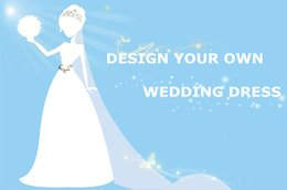 Wholesale Cusomize Wedding Dress DIY Design Your Own Dream Dress Custom Made Bridal Gowns To Your Picture Design DL11111
