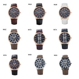 2017 relojes de pulsera piezas unisex negocio de la moda relojes GTWH11 reloj reserva de marcha, relojes de pulsera de cuarzo relojes de la correa analógico-digitales 6 pedazos una porción del color de la mezcla económico relojes de pulsera piezas