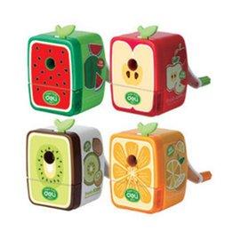 Wholesale Desktop Cute Cartoon Mechanical Kids Lovely Gift Green Watermelon Best Colored Pencil Sharpener School Supplies for Students