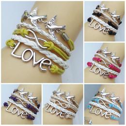 Charm Bracelets & Bangles for Women HandMade love gift men jewelry bangles bohemian Leather Infinity Bracelet
