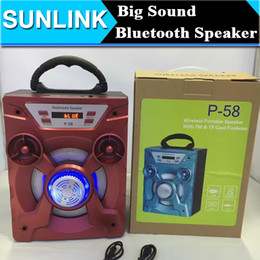 Wholesale Square Dancing Practice Big Sound Stereo Bass Bluetooth Speaker LED Light Wireless Portable Subwoofer Loudspeaker USB TF Card Support