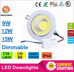 Wholesale Newest Silver Dimmable Led Downlights W W W COB Led Down Light Recessed Ceiling Light Angle AC V CE ROHS UL