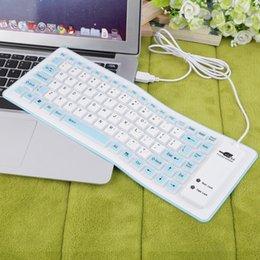 Al por mayor-Nuevo azul 88 teclas portátil atado con alambre impermeable flexible de silicona suave teclado del USB para PC al por mayor supplier wired usb silicone keyboard wholesale desde usb con cable al por mayor del teclado de silicona proveedores