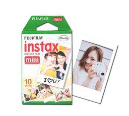 Wholesale 20pcs FUJIFILM Instant FUJI Instax Mini Films White Edge Photo Papers for mini7s mini8 mini90 mini25 s Polaroid s Share SP film