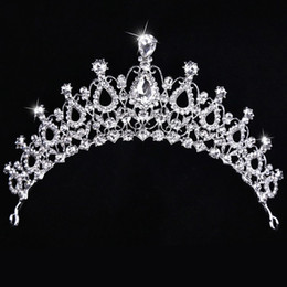 Wholesale New Arrival Stunning Bridal Crown High Quality Crystal Glass Rhinestone Royal Wedding Headpiece Crowns Tiara Factory Direct Sale Best Price
