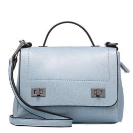 wholesale shoulder bag women solid colour genuine leather lock embellishments fashin MINI handbag 7colours drop shippng
