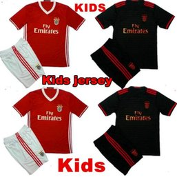 Wholesale 2016 SL Benfica Jersey Kids kit Soccer Benfica jersey Children youth Kits Lisboa Football shirts home maillot de foot