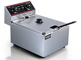 Wholesale Commercial Electric L Single cylinder Deep Fryer w Timer and Drain Stainless Steel French Fry Fries Machine