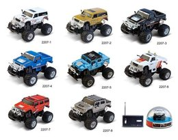 Wholesale High Speed mini RC Toy Car Scale BigFoot Hummer SUV with Front Rear Lights Shock Absorption Best Xmas Gift for Kids